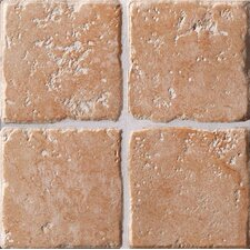 "Italian Country 4"" x 4"" Bullnose Outcorner Tile Trim in Rosa"