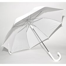 Solid White Auto-Open Umbrella