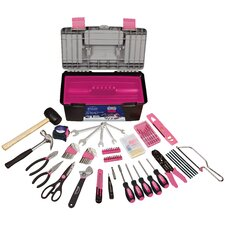170 Piece Tool with Pink Tool Box