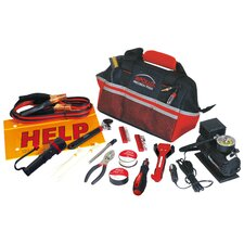 <strong>Apollo Tools</strong> 53 Piece Roadside/Emergency Tool Kit with Air Compressor