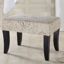 <strong>Enchanted Home Pet</strong> Printed Linen Vanity Stool