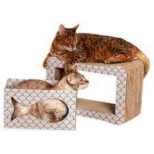 2 Piece Cats Out Of The Bag Scratcher Set