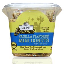 "Gourmet 5"" Vanilla Flavored Mini Donuts Dog Treat"