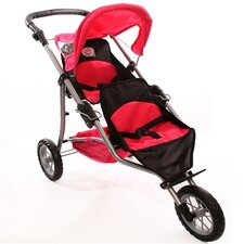 <strong>The New York Doll Collection</strong> Twin Jogging Doll Stroller