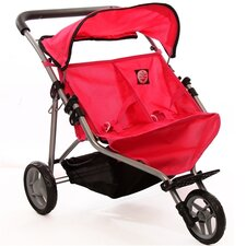 <strong>The New York Doll Collection</strong> Adorable Doll Twin Jogging Stroller