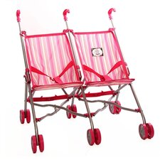 <strong>The New York Doll Collection</strong> Twin Traveling Doll Stroller