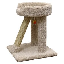 Elevated Cat Bed & Scratch Post