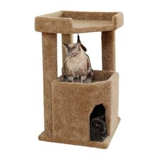 Corner Roost Cat Scratch Post & Condo