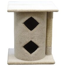 Sisal Cat Scratch Post & 2 Story Cave