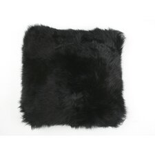 Natural Sheepskin Long Wool Microsuede Cushion