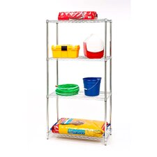 UltraZinc 4-Shelf NSF Commercial Steel Wire Shelving System with Wheels