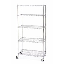 "UltraZinc NSF Commercial Wire System 72"" H 5 Shelf Shelving Unit"