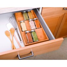 Bamboo Spice Rack Drawer Tray