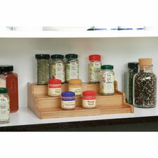 3-Tier Expandable Bamboo Spice Organizer Shelf