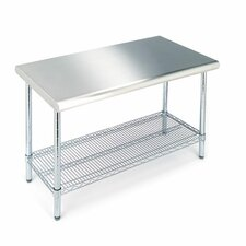 <strong>Seville Classics</strong> Work Table with Stainless Steel Top