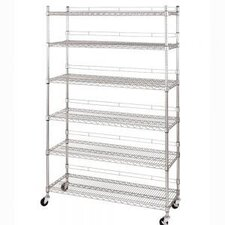 <strong>Seville Classics</strong> Shelf Wire Shelving System with Casters and Wheels