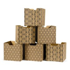 Leaf Pattern Decorative Storage Box (Set of 6)