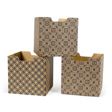 Star Pattern Decorative Storage Box (Set of 3)
