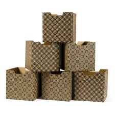 Star Pattern Decorative Storage Box (Set of 6)