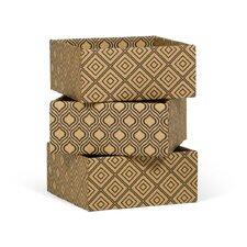 Diamond Print Decorative Storage Boxe (Set of 3)