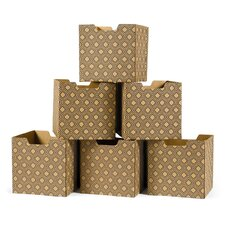 Leaf Pattern Decorative Storage Box (Set of 6)