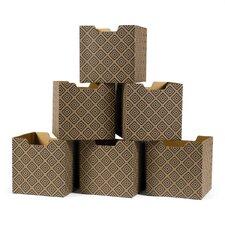 Diamond Pattern Decorative Storage Box (Set of 6)