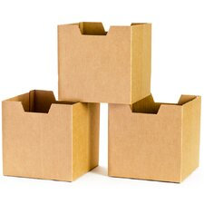 Cardboard Cubby Bins (Set of 3)