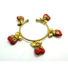 Goldtone Heart Bracelet