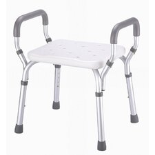 <strong>Essential Medical</strong> Molded Shower Bench with Arms with No-Back