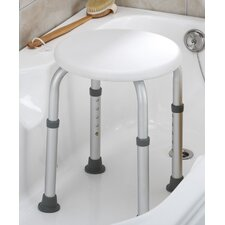<strong>Essential Medical</strong> Round Bath Stool-Tool Free in White