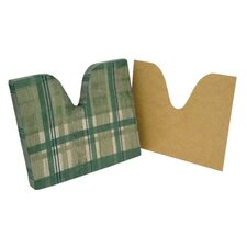 Plaid Coccyx Cushion with Removable Masonite Insert