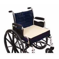 Fleece Covered Wheelchair Cushion in Navy