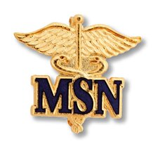 Master of Science in Nursing Caduceus with Emblem Pin