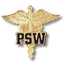 Patient Service Worker Caduceus with Emblem Pin
