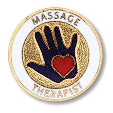 Massage Therapist Emblem Pin