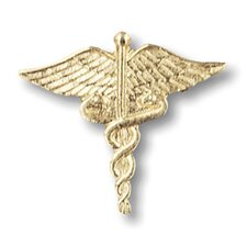 Large Gold Caduceus