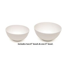 2 Piece Cashmere Bone China Serving Bowl Set
