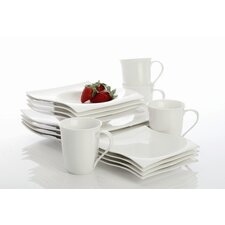 White Basics Motion 16 Piece Dinnerware Set