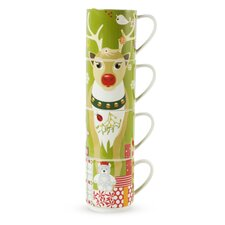 <strong>Maxwell & Williams</strong> Kris Kringle 14 oz. Reindeer Mug (Set of 4)