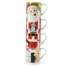 Kris Kringle 14 oz. Santa Mug (Set of 4)