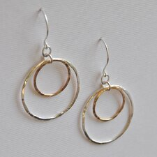 14kt Gold Fill Sterling Silver Double Ring Earrings