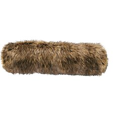 Coyote Faux Fur Neckroll Pillow