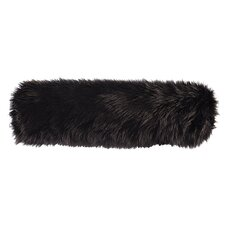 Black Fox Faux Fur Neckroll Pillow