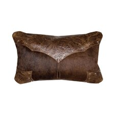 Accessory Pillows Cosmo Upgrade Leather and Decorative Conchos and Studs Pillow