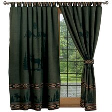 <strong>Wooded River</strong> Moose I Tab Top Drape Panel (Set of 2)