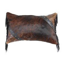 Accessory Pillows Cosmopolitan Specialty Leather and Leather Suede Fringe Pillow