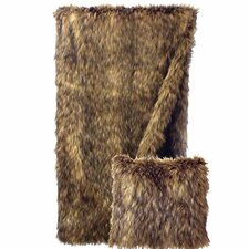 <strong>Wooded River</strong> Coyote Faux Fur Throw