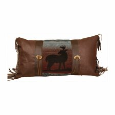 <strong>Wooded River</strong> Deer Meadow Faux Leather Pillow