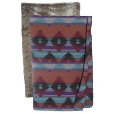 Painted Desert Faux Fur Throw
