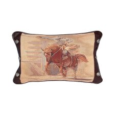 <strong>Wooded River</strong> Accessory Pillows Leather and Decorative Conchos Pillow